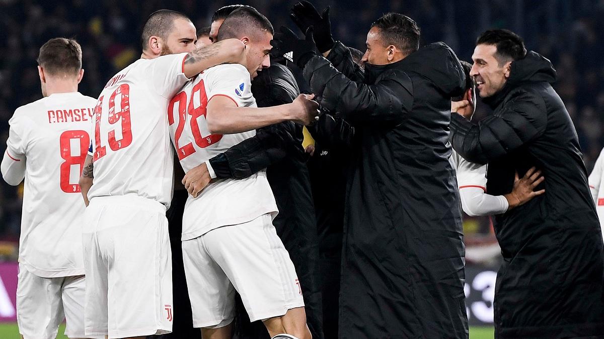 Merih Demiral but contre la Roma
